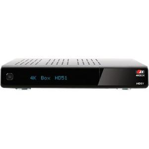 Ресивер AX (Opticum) 4K HD51 с тюнерами DVB-S2X + T2/C