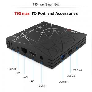 Cмарт ТВ приставка T95 Max TV BOX 4/64GB