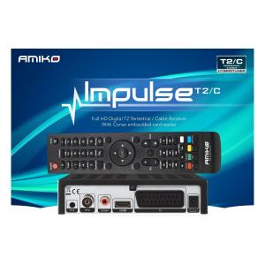Ресивер Amiko Impulse T2/C c Внешним ИК-приемником