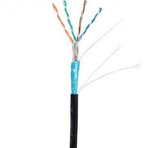 Кабель U/UTP NETLAN EC-UF004-5E-PE-BK кабель внешний Cat 5e