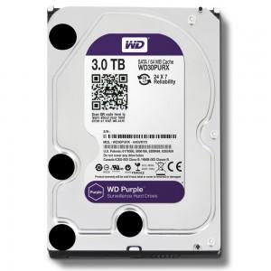 3 ТБ жесткий диск WD30PURZ серии WD Purple для систем видеонаблюдения