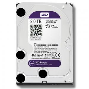 2 Тбайт жесткий диск WD20PURZ серии WD Purple для систем видеонаблюдения
