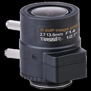 Вариофокальный 4 Мп объектив TRASSIR TR-L4M2.7D2.7-13.5IR с ИК-коррекцией, АРД