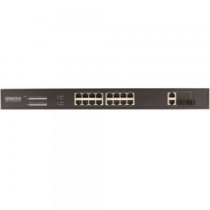 16-портовый неуправляемый PoE коммутатор OSNOVO SW-61622/B (270W) Fast Ethernet