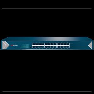 24-портовый неуправляемый асимметричный сетевой коммутатор Hikvision DS-3E0524-E