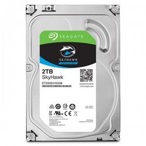 2 Тбайт жесткий диск Seagate ST2000VX008 серии SkyHawk для систем видеонаблюдения